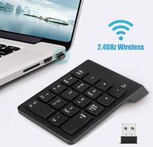Numeriskt Tangentbord Trådlöst Usb-nummerplatta 2,4 Ghz 18-tangenters Mini Portab