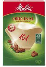Melitta Melitta Kaffefilter 101 oblekta 40-pack 4006508125999 Replace: N/AMelitta Melitta Kaffefilter 101 oblekta 40-pack