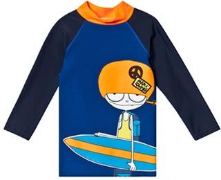 Little Marc Jacobs Mr Marc Surf Board UV-tröja Blå 5 years