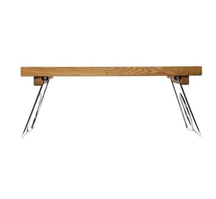 Sagaform Sängbricka med hopfällbara ben Oval Oak Oval oak sängbricka med hopfällbara ben