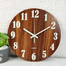 Quartz Number Wall Clock 3d Silent Clock Glow In Dark Luminous B