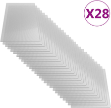 vidaXL Polykarbonatark 28 st 4 mm 121x60 cm