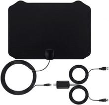 Inomhusantenn för 4K full HDTV mottagning 25 dB - svart
