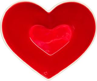 Sagaform - Heart Sweetheart Skål, Rød/Hvid