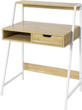Lille skrivebord med reol, skuffe og terning Måling af bordpladen L76 * D50 * H75 cm