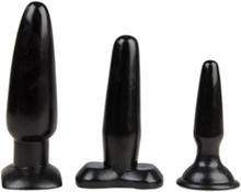 Liquorice Dip - 3 pcs Butt plug set