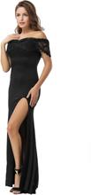 Lace Off Shoulder Party Maxi Dress