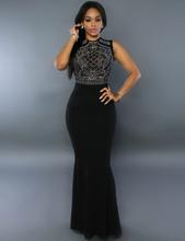 Black Shimmering Rhinestone Embellished Dress