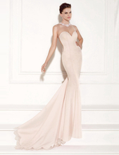Apricot Transparent Gauze Evening Dress