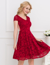 Flower Embroidered Maroon Dress