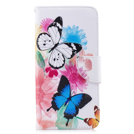 Butterfly Pattern PU Leather Wallet Case for Xiaomi Redmi Note 6 Pro