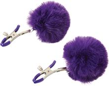 Sportsheets - Sincerely Fur Nipple Clips Purple