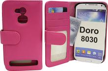Plånboksfodral Doro 8030 (Hotpink)