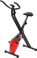 vidaXL Magneettinen Xbike Kuntopyörä sykemittarilla musta ja punainen