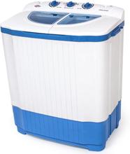 Mini vaskemaskine med 4,5 kg. vask og 3,5 kg. centrifugering - hvid
