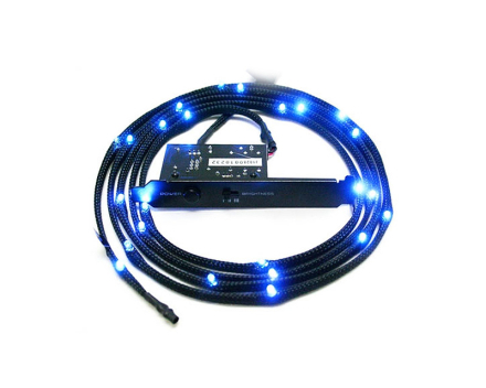 Sleeved LED Kit Cable Blue 2M