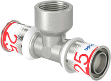 """UPONOR S-PRESS TEE REDUCERET M/MUFFE 25-RP3/4""""FT-25"""