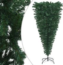 vidaXL Uppochnedvänd plastgran med stativ grön 150 cm