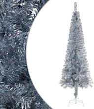 vidaXL Plastgran smal silver 150 cm