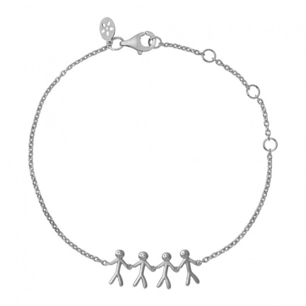 Together - Family bracelet 4 - silver