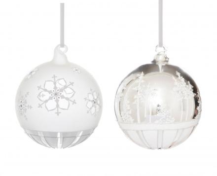 Jette Frolich Julekule Vinterdrøm Glass 2stk