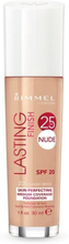 Rimmel Lasting Finish 25h Nude Foundation 010 Light Porcelain 30ml