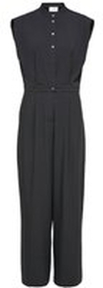 SELECTED Short Sleeve Button Up Jumpsuit Kvinna Svart