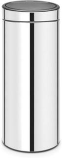 Brabantia Touch Bin NEW, plastinnerhink 30 L Blankborstat Stål