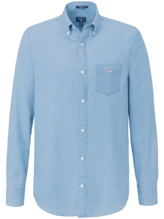 Denimskjorte button-down-flip Fra GANT denim - Peter Hahn