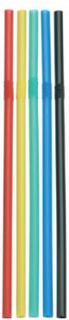 Sugrör böjbara blandade färger 50 st 19,5 cm