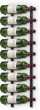 Väggmonterat vinställ för 18 flaskor