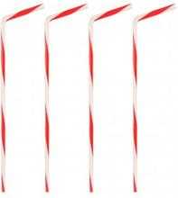 Böjbara sugrör med rödvita ränder 40-pack Papstar
