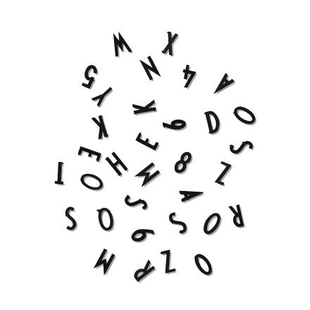 Design Letters - Design Letters Sifre & Bokstaver, Sort