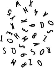 Design Letters - Design Letters Tal og Bogstaver, Sort