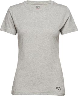 Traa Tee T-shirt Top Grå Kari Traa