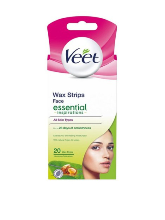Veet Essential Strips Face 20st Rosa