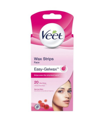 Veet Cold Wax Strips Face 20st Rosa