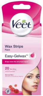 Veet Cold Wax Strips Face 20st