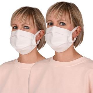 Anita 2P Community Face Mask Hvit bomull One Size