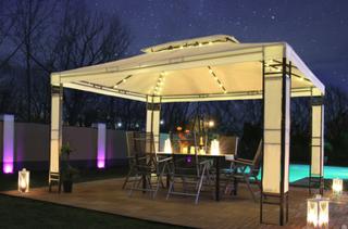 LED Paviljong Milano 3x4m krem