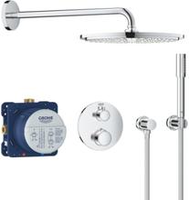 Grohe Grohtherm Rainshower Cosmopolitan 310 inbyggningsduschsystem med termostat, krom
