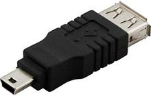USB-adapter A hona till Mini-B hane