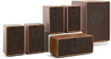 Retrospective 1979-S 5.1 Soundsystem valnöt inkl. överdrag i svart/brunt