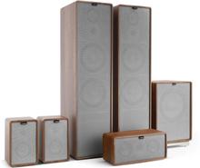 Retrospective 1977 MKII 5.1 Soundsystem valnöt inkl. överdrag i grått