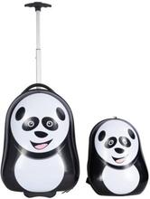 Børnekuffert - Trolley på hjul inkl. rygsæk - Pandaer - Sæt til børn