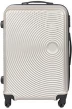 Mellem kuffert - Grå hardcase rejsekuffert - Eksklusiv kuffert med smart design (ekstra plads)