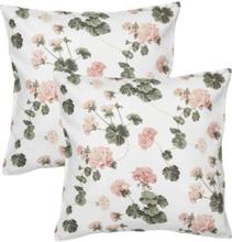 Fondaco Pelargon tyynynpäällinen 2-Pakkaus Valkoinen Vaaleanroosa