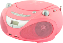 Boombox CD/Radio/MP3/USB Pink ABB200P