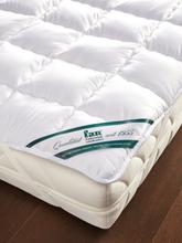 Baumwoll-Spannauflage Wash Cotton ca. 140x200cm FAN weiss