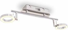 vidaXL LED VäggTaklampa med 2 lampor varmvit